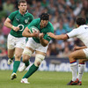 Stephen Ferris made his return to Test rugby as a second half replacement against France, having recovered from a long-term knee injury which had kept him out of action since January