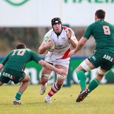 Stephen Ferris in action against Aironi