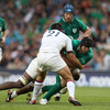 It was Stephen Ferris' first appearance in the green jersey since his try-scoring outing against Argentina last November