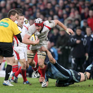 Ulster's Stephen Ferris in action against Cardiff
