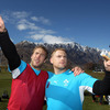 Future catalogue models Stephen Ferris and Jamie Heaslip soaked up their new surroundings, having touched down in the resort town on Thursday afternoon