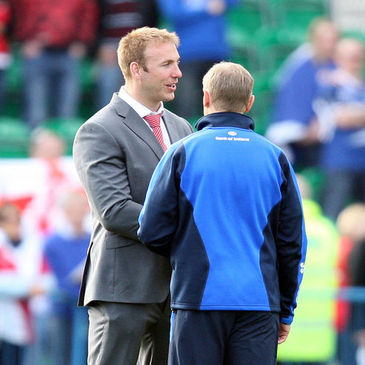 Ulster and Ireland flanker Stephen Ferris with Joe Schmidt