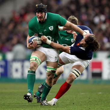 Stephen Ferris on the attack against France