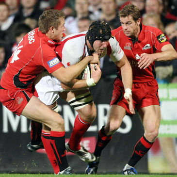 Ulster flanker Stephen Ferris in action against Edinburgh