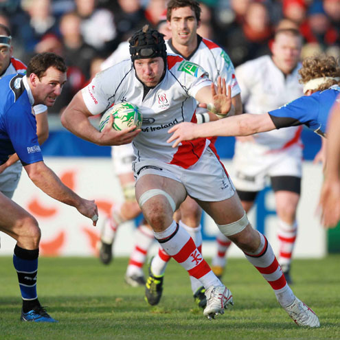Ulster's Stephen Ferris in action against Bath