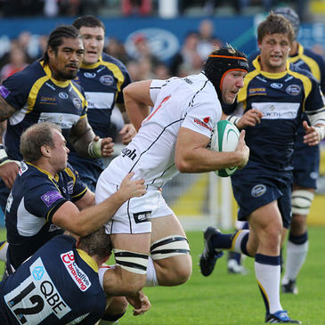 Stephen Ferris carries the ball forward for Ulster