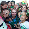 Stephen Ferris was one of the star attractions during the Ireland players' visit to Selwyn School in Rotorua. The Irish squad arrived in the city today ahead of Sunday's game against Russia
