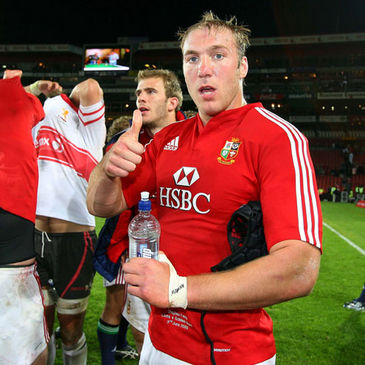 Stephen Ferris giving the thumbs up after the Golden Lions match