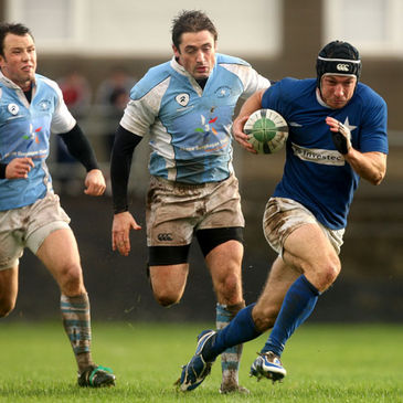 St. Mary's centre Stephen Grissing breaks forward against Garryowen