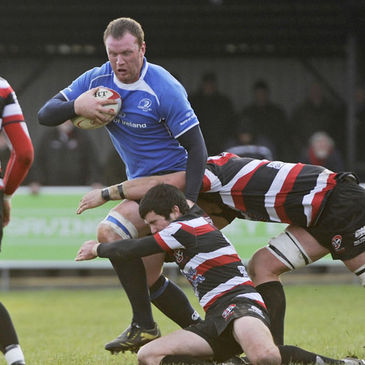 Stephen Keogh in action against the Cornish Pirates