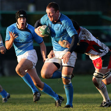 Stephen Keogh in action against Plymouth Albion