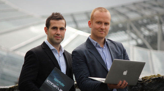 Kitman Labs founders Stephen Smith and Iarfhlaith Kelly