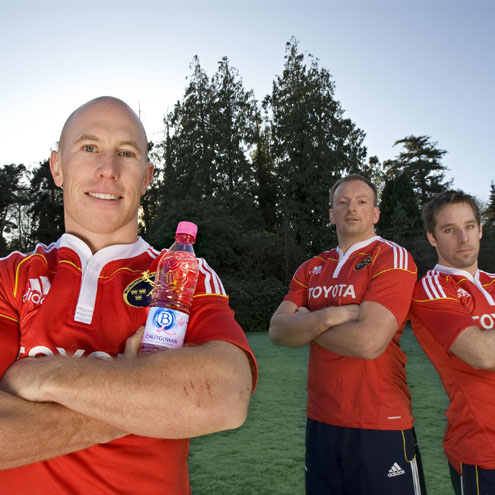 Munster's Peter Stringer, Mick O'Driscoll and Tomas O'Leary