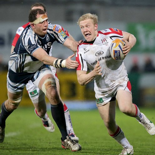 Stuart Olding in action against the Blues