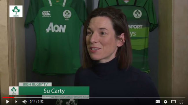 Irish Rugby TV: Su Carty On The IRFU Women's Rugby Review