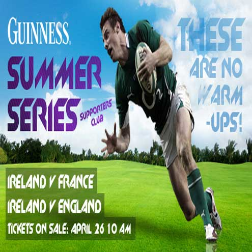 GUINNESS Summer Series tickets went on sale on Tuesday