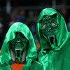 Some fans went all out in terms of their choice of clothing for the match. There were big pockets of green throughout the stadium