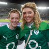 Graham Hunt and Gillian O'Sullivan were among the Ireland fans in the 58,678-strong crowd at Eden Park