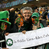'Is féidir linn' was the call from these Ireland fans at Eden Park, a venue at which Australia had lost their last 12 Test matches