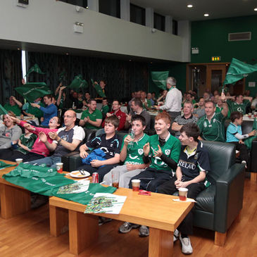 Supporters watch Ireland in action in Malahide RFC