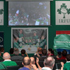 All eyes were fixed on the big HD screen at Malahide RFC as Declan Kidney's men got their Rugby World Cup campaign off to a winning start