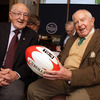 Legendary Irish rugby writer Ned Van Esbeck caught up with Corkman Jim McCarthy at the launch in Trinity College