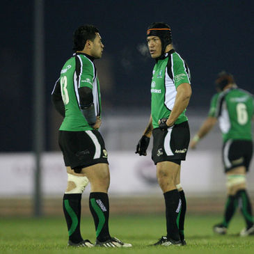 Connacht's Niva Ta'auso and Ray Ofisa