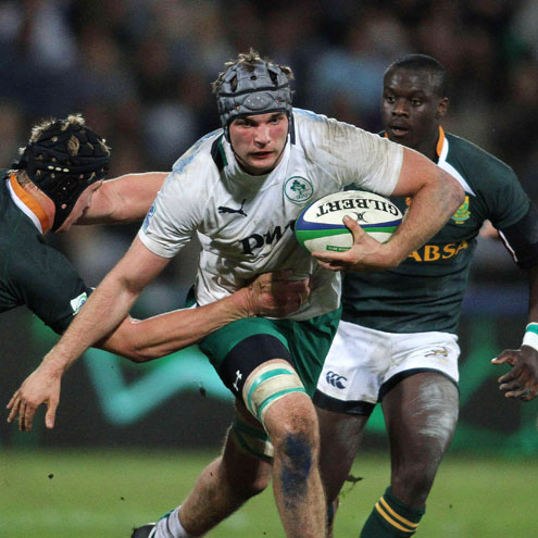 Second row Tadhg Beirne in action against South Africa