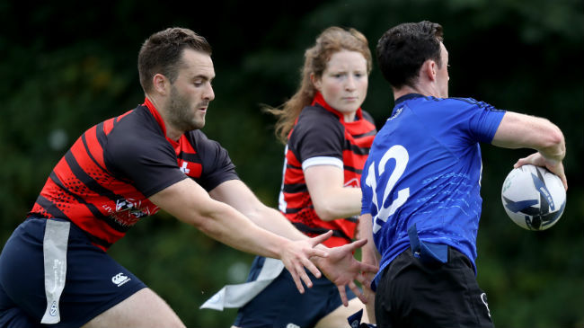 Action from the IRFU Volkswagen Tag finals
