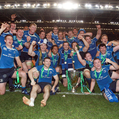 Photos of Leinster celebrating their Heineken Cup success