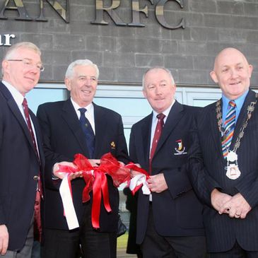 IRFU President John Lyons helps officially open the new UL Bohemians clubhouse