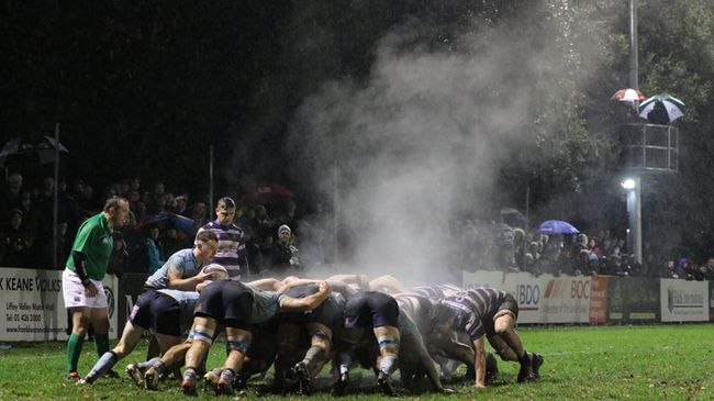 The steam rises from the forwards during UCD's win away to Terenure