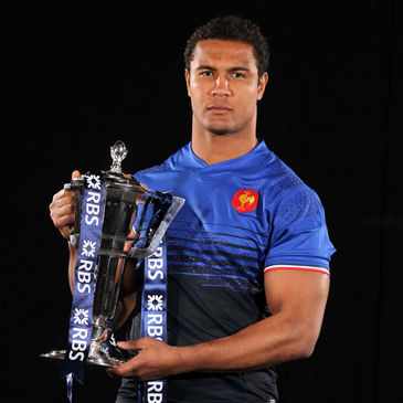 Thierry Dusautoir with the Six Nations trophy