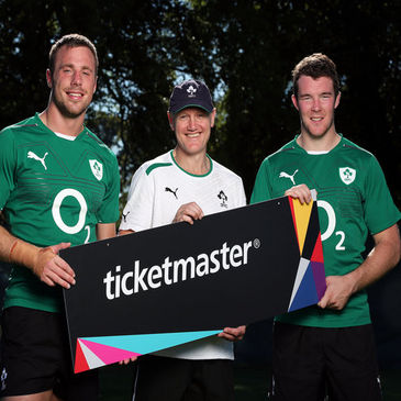Ireland's Tommy Bowe, Joe Schmidt and Peter O'Mahony