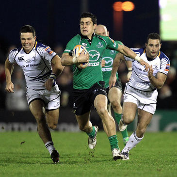 Tiernan O'Halloran in action for Connacht