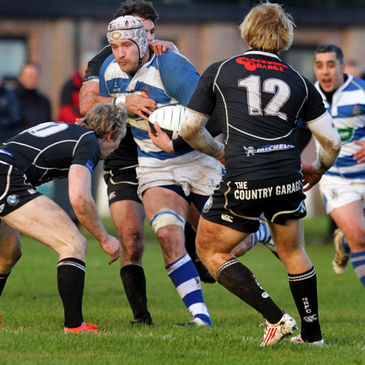 Ulster's Tim Barker takes the ball on for Dungannon