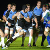 Glasgow Warriors replacement Tim Swinson gets his legs pumping during a midfield run at Scotstoun Stadium