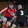 Munster prop Timmy Ryan, who was making his first start for the province, takes on New Zealand's Ben Franks