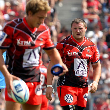 Timmy Ryan in the colours of French club Toulon
