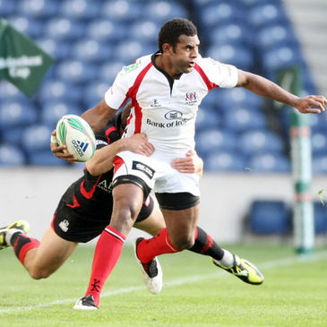 Ulster winger Timoci Nagusa is tackled by Edinburgh's Nick De Luca