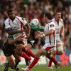 Two of Ulster's try scorers combine as Timoci Nagusa offloads to Paddy Wallace