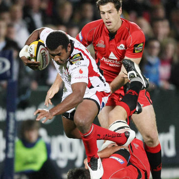 Fijian winger Timoci Nagusa in action for Ulster