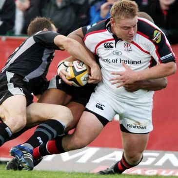Ulster prop Tom Court in action against the Ospreys