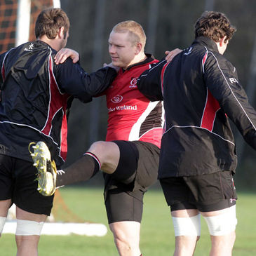Tom Court training with the Ulster squad