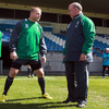 Head coach Declan Kidney has a word with Tom Court, who made his Ireland debut against Italy back in February 2009