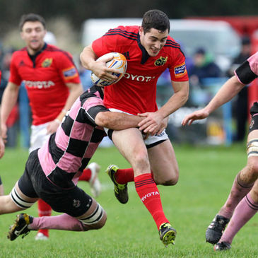 Munster's Tom Gleeson in action against Ayr