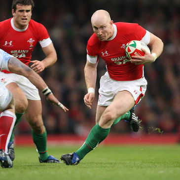 Wales centre Tom Shanklin in action against England