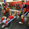 Dan Cole and Tom Croft assist Tom Youngs as the England hooker and Lions Test starter performs some lifts