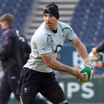 Tomas O'Leary training with the Ireland squad