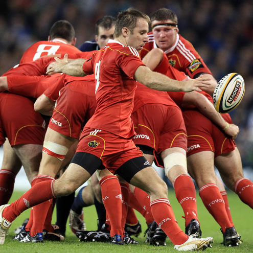 Munster's Tomas O'Leary in action against Leinster
